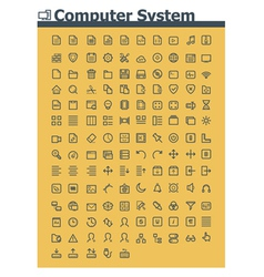 Computer system icon set vector image vector image