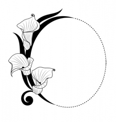 floral boarder vector image