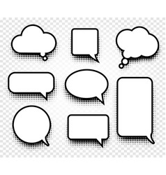 isolated abstract black and white color comics vector image