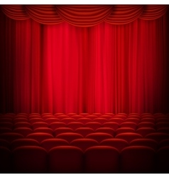 Red curtain template EPS 10 vector image vector image