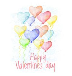 saint valentine s day hand drawn card vector image