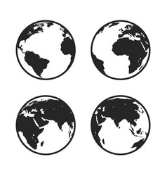 set of globe icon vector image