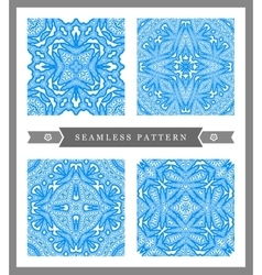 Snow flake seamless pattern Christmas background vector image