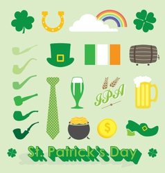 St Patricks Day Icons and Symbols vector image vector image