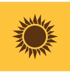 The sunrise icon Sunrise and sunshine weather vector image vector image