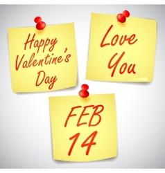 Valentines Day Notes vector image vector image