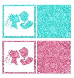 Very high quality original of wedding vector image