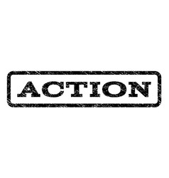 action watermark stamp vector image