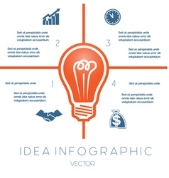 Business Concept Light bulb infographic 4 vector image
