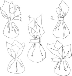 Candy set sketch style hand drawn Contour on vector image