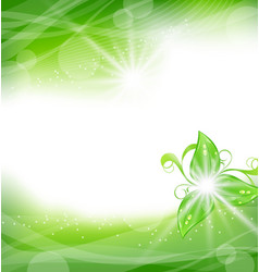 Eco friendly background with green leaves vector image vector image