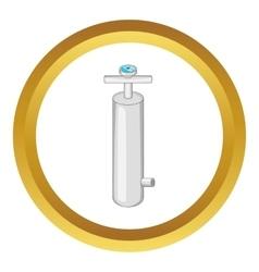 Pump with pressure gauge icon vector image