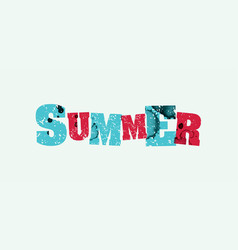 summer concept stamped word art vector image vector image