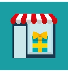 Woman buys gifts icon vector