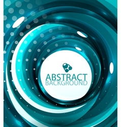 abstract blue glossy swirl background vector image