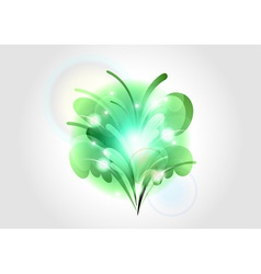 abstract flower green light vector image