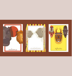 africa set cards banners posters vector image