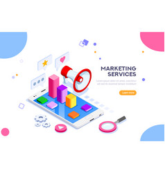 agency and digital marketing concept vector image