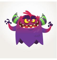 Angry cartoon monster halloween vector