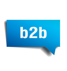 b2b blue 3d speech bubble vector image