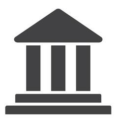 bank building flat icon symbol vector image