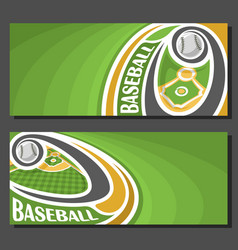 banners for baseball vector image