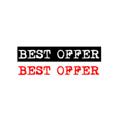 Best offer rubber stamp badge with typewriter set vector