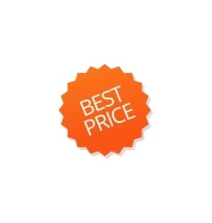 Best price badge tag isolated sticker icon vector