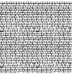 black and white brick wall seamless pattern vector image