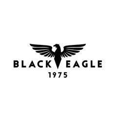Black eagle logo design inspiration vector