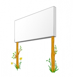 blank billboard on wooden column vector image