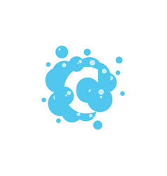 bubble with initial letter c graphic design vector image