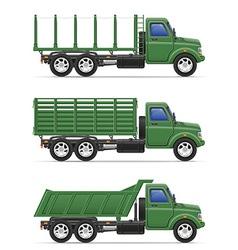cargo truck 16 vector image