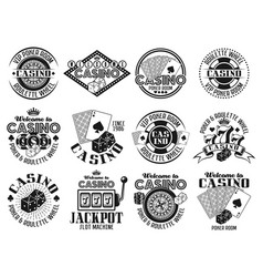casino and gambling emblems labels badges vector image