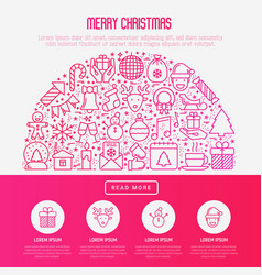 christmas celebration concept in half circle vector image