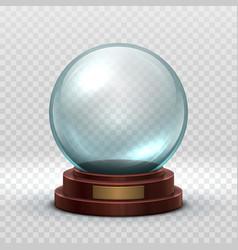 Christmas snowglobe crystal glass empty ball vector