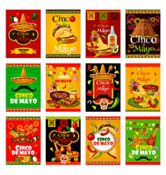Cinco de mayo greeting card for mexican festival vector