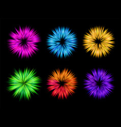 Colourful explosion for holi set vector