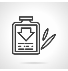 Cough syrup black line design icon vector