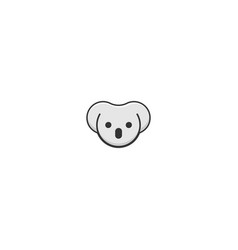 cute koala logo design symbol dan icon template vector image