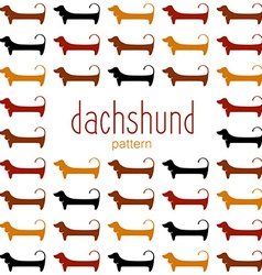 Dachshund pattern template vector