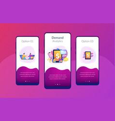 Demand planning app interface template vector