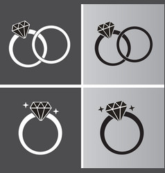 diamond ring symbol vector image