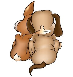 Dog and Rabbit vector