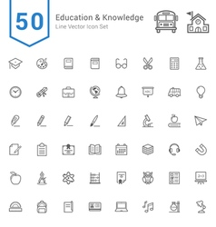 Education and Knowledge Line Icon Set vector