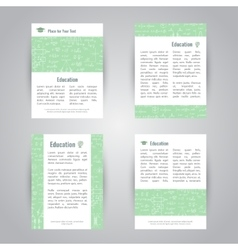 Education banners with scientific formulas vector image
