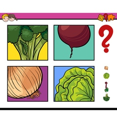 Educational activity with vegetable vector
