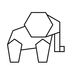Elephant low poly style vector