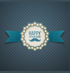 Fathers day greeting card design vector