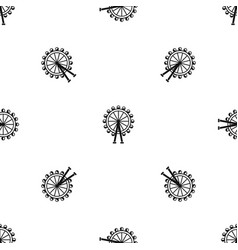 ferris wheel pattern seamless black vector image
